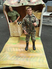 "VINTAGE IDEAL GI SENTRY POST CARRY CASE 12"" & GI JOE Repo PLAYSET CASE"