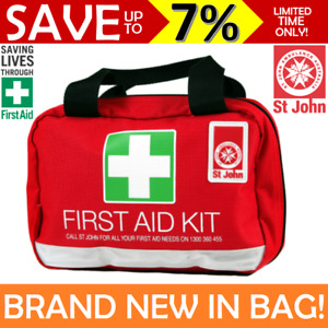 NEW St John Ambulance First Aid Kit Small Family Work Travel Bag COMPLIANT
