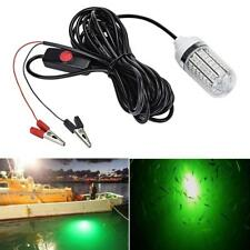 12V LED Green Underwater Submersible Night Fishing Light Crappie Shad Squid New