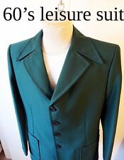 Leisure suit green pointy collars 1976 polyester that jacket 1970s disco show m