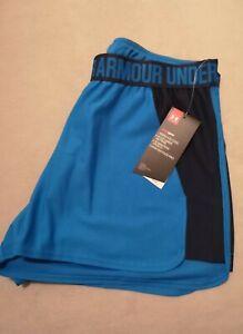 BNWT Women's Under Armour Blue Gym Shorts M
