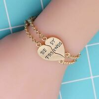 Best Friend Forever Bracelet For 2 Bff Long Distance Friendship Charm Matching B