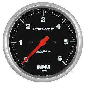 """UNIVERSIAL DODGE FORD CHEVY AUTO METER SPORT-COMP 5"""" IN-DASH TACHOMETER."""
