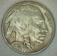 1923 US Buffalo 5c Five Cent Copper Nickel Almost Uncirculated