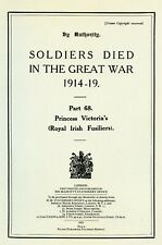 More details for the royal irish fusiliers ,soldiers died in the great war. 1914-19 softback book