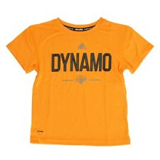 Houston Dynamo Adidas MLS Boys Orange Team & Logo Climalite T-Shirt