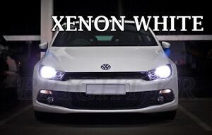 FOR VW SCIROCCO MK3 HEADLIGHT LAMP LIGHT BULBS ERROR FREE- XENON 6000K WHITE