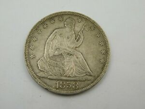 1858 O Seated Half Dollar Extra Fine US Silver Coin (#999) C15)