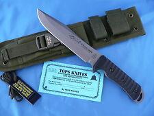 TOPS Apache Dawn Rockies Edition Knife Black G-10 1095 Carbon Steel USA Made
