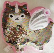 Justice Llamacorn Flip Sequins Plush Throw Pillow Girl's Gift New With Tags