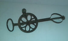 Antique Primitive Old Hand Forged Iron Kitchen Tool Hand Mixer.