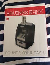 Digital ATM Saving Bank Money Box Coin Counter Bank Card Gadget Gift. Free P&P