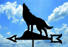 WOLF 1 Metal Plasmacut Wind Direction Roof Decor
