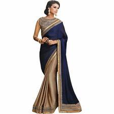 Saree Sari Bollywood Indian Style Wedding Traditional Women Designer Fancy