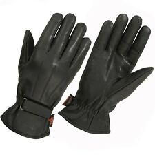 Hugger Women's Motorcycle Gloves Lined Water Resistance Leather Ladies Size