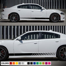 Decal Vinyl Graphic Side Stripes for Dodge Charger RT SRT Door Sill Handle Kit