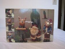 New listing Kirkland Holiday Wine Accessory Set 5 Pieces Santa, Snowman, Reindeer