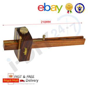 """Rolson 6"""" Mortice Marking Gauge Carpenters Woodworking Tool Brass Door"""