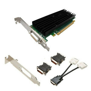 PNY NVIDIA Quadro NVS 290 256Mb VCQ290NVS-PCIEX16-PB DMS-59 Dual DVI Video Card