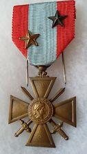 MÉDAILLE CROIX DE GUERRE TOE Indochine Légion Étrangère ORIGINAL Medal Cross 1