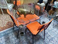 Table a jeux en altuglass plateau en verre avec suport de boisson en laiton60s70