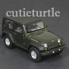 "4.5"" Welly Jeep Wrangler Rubicon Top Up Diecast Toy Car 42371H-D Green"