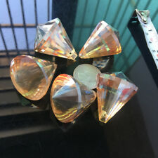 5Pc Champagne Glass Crystal Prism Suncatcher Faceted Pendant Hanging Chandelier