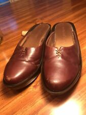 Matisse Dutch Style  Leather Clogs Lace Up Detail Round Toe Sz 8M