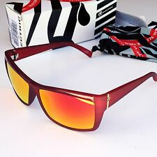 Electric Riff Raff Sunglasses-Plasma Red Frame/Fire Chrome Lens-NEW IN BOX