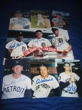 1968 Detroit Tigers Baseball Autographed George Brace 3x5 Photo Collection (9)