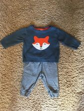 Carters Fox Outfit Sweater Pant Set Newborn Nb
