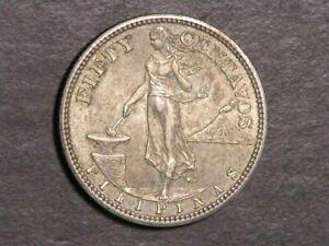 PHILIPPINES 1907 50 Centavos Silver XF-AU