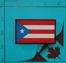 PVC PUERTO RICO FLAG rubber PATCH POLICE BLACK OPS ARMY Paintball Uniform BadgE
