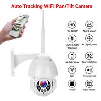 2MP 1080P 4X Zoom IP Camera Two Way Talk Security Pan Tilt Outdoor APP View