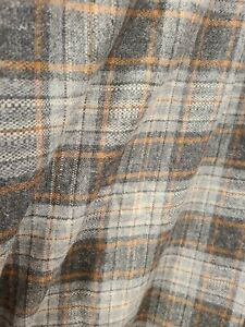 """VINTAGE Wool Blend Beautiful Piece!! 4 Yards X 60"""" Grey's and Brown"""
