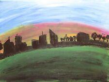 Landschaft Original Acrylbild Leinwand auf Keilrahmen signiert Gemälde
