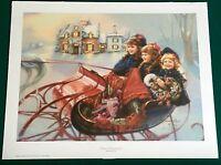 *WINTER WONDERLAND* Kuck S & N 811/950 LTD ED 1999 Litho Print 20x25 CHRISTMAS
