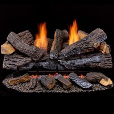 Duluth Forge Ventless Natural Gas Log Set - 30 in. Stacked Red Oak 33,000 Btu