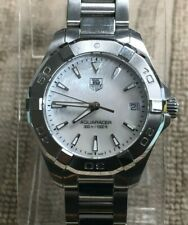 TAG Heuer Aquaracer WAY1312 Quartz Stainless Steel & Mother of Pearl Wrist Watch