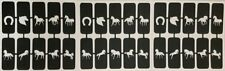 30 x horse nail stencils (mixed) for airbrush  gift present