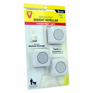 Victor PestChaser Plug-In Electronic Pest Repeller For Rodents 3 pk M753K