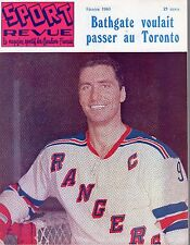 1963 (Feb.) Sport Revue Hockey Magazine, Andy Bathgate, New York Rangers ~ VG