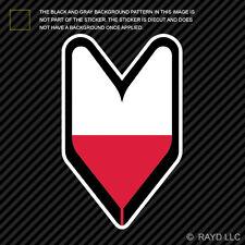 Polish Driver Badge Sticker Die Cut Decal wakaba leaf soshinoya Poland POL PL