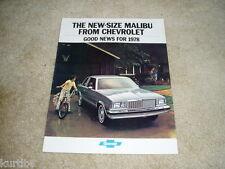 1978 Chevrolet Malibu Classic Wagon Coupe sales brochure dealer literature
