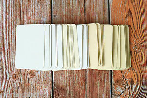 50pc blank INCLUSIONS MINI Business Cards DIY escort cards craft name cards ATC