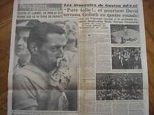 FAUSTO COPPI VINCE TOUR DE FRANCE 26/7/1949 QUOTIDIANO PARIS PRESSE Raro