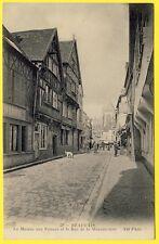 cpa Picardie 60 - BEAUVAIS (Oise) La MAISON aux FAUNES et Rue de la MANUFACTURE