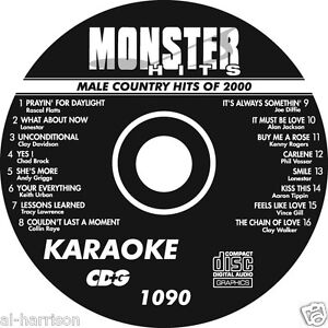 KARAOKE MONSTER HITS CD+G 80's MALE COUNTRY HITS OF 2000 #1090