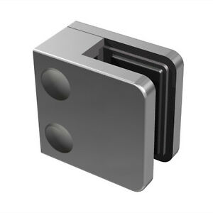 Balustrade Glass clamp square Satin FINISH STAINLESS STEEL 304 45x45