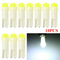 10X White T5 Car Cob LED Dashboard Cluster Gauge Lights Bulbs 18 37 70 DC12V PW